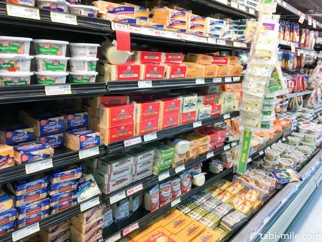 ペイレススーパーマーケット チーズ売り場