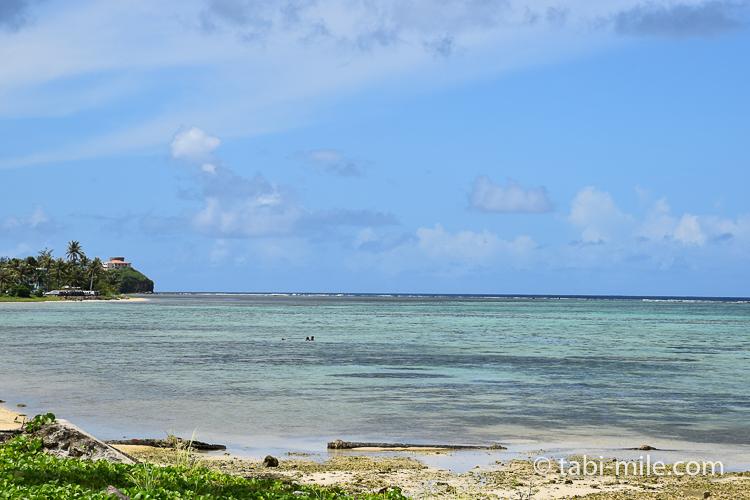 ハガニア地区海岸沿い海ブルー