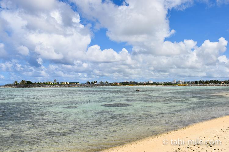ハガニア地区海岸沿い海透明