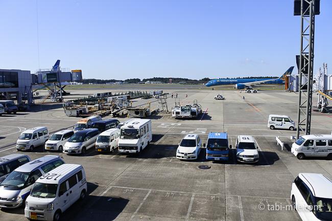 成田空港第1ターミナルKALラウンジ窓からの様子