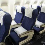 ユナイテッド航空グアム機内座席