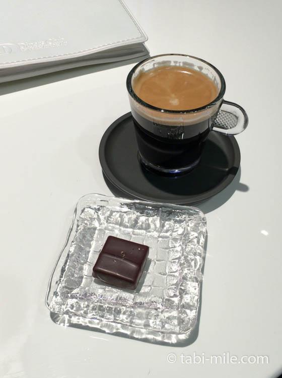 ダイナースクラブ銀座ラウンジ コーヒーとブルガリイルチョコラート