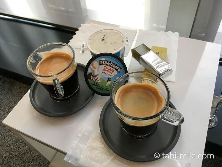 ダイナースクラブ銀座ラウンジ コーヒーと羊羹