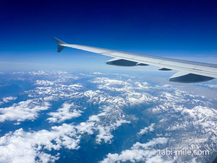 フランス上空の景色