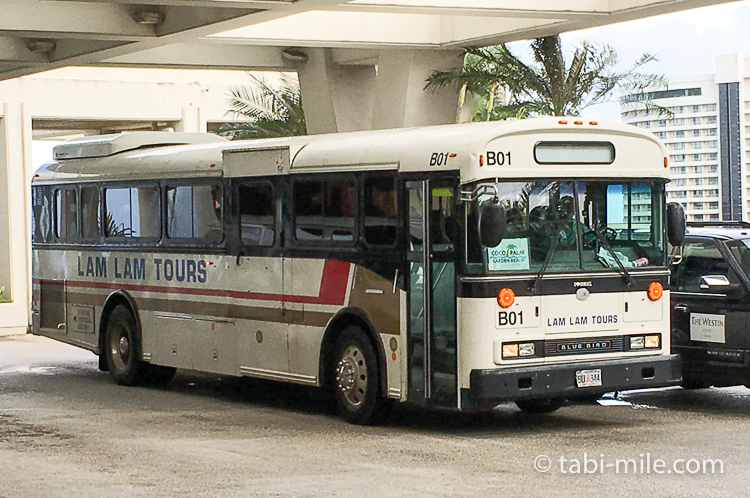 グアム グアム旅行 ココパームガーデンビーチ 送迎バス