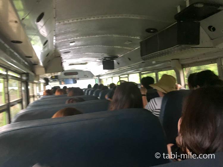 ココパームガーデンビーチ バス車内帰り