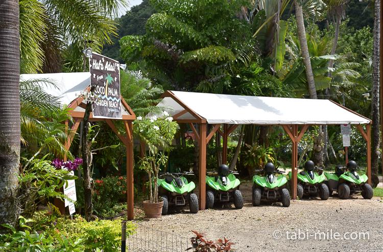 グアム旅行 ココパームガーデンビーチ 有料アクティビティ バギー