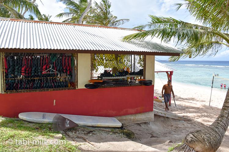 グアム旅行 ココパームガーデンビーチ 道具 レンタルショップ