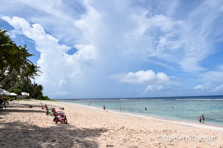 グアム旅行 ココパームガーデンビーチ ビーチの様子1