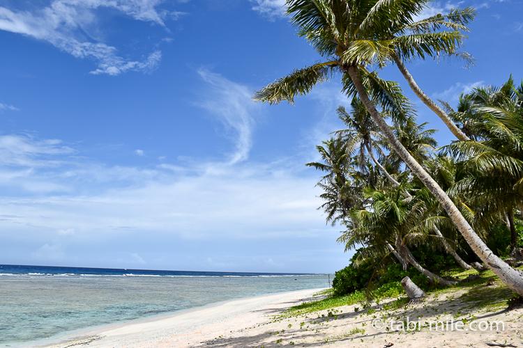 グアム旅行 ココパームガーデンビーチ 海とヤシの木