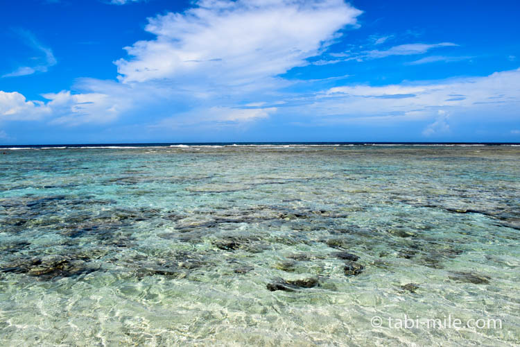 ココパームガーデンビーチのきれいな海