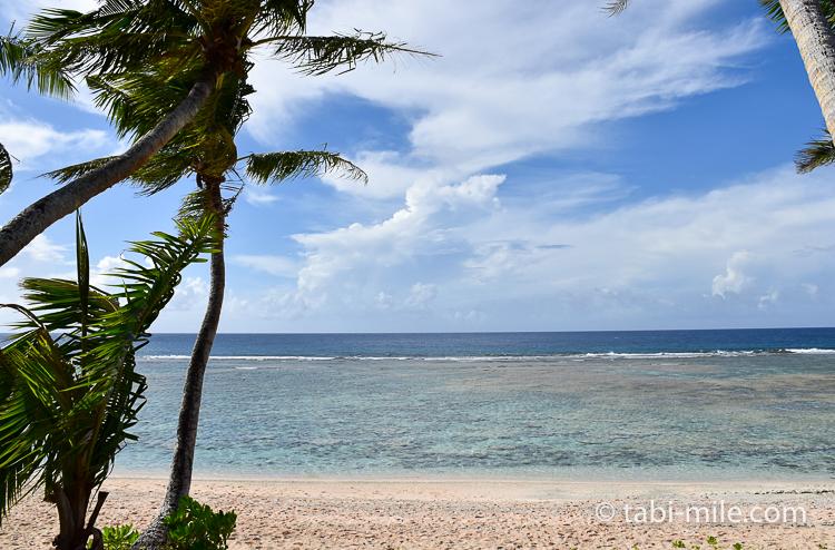グアム旅行 ココパームガーデンビーチ カバナからの景色