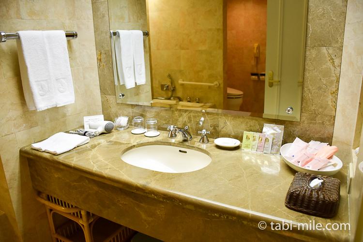 ホテルオークラ東京ベイ デラックスルーム 洗面台