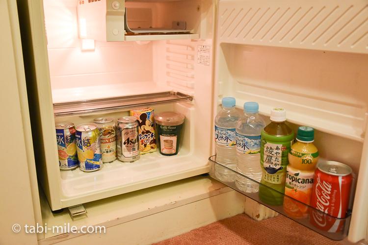 ホテルオークラ東京ベイ デラックスルーム 冷蔵庫ドリンク