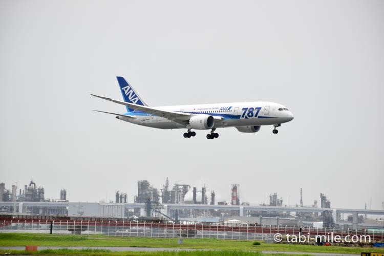 ANA機着陸 羽田空港