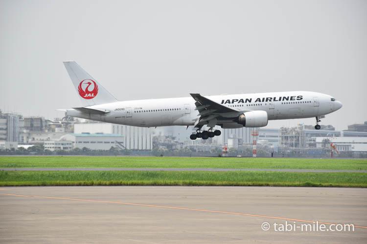 JAL機 離陸 羽田空港