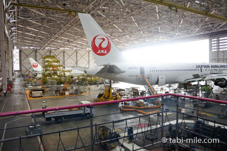 羽田空港 JAL機体整備工場