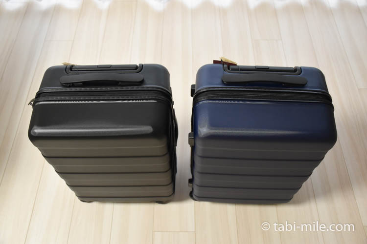 キャリーバーの高さを自由に調節できるストッパー付きハードキャリー(33L)02