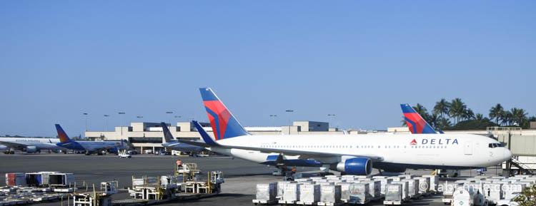 デルタ航空機体 ホノルル空港