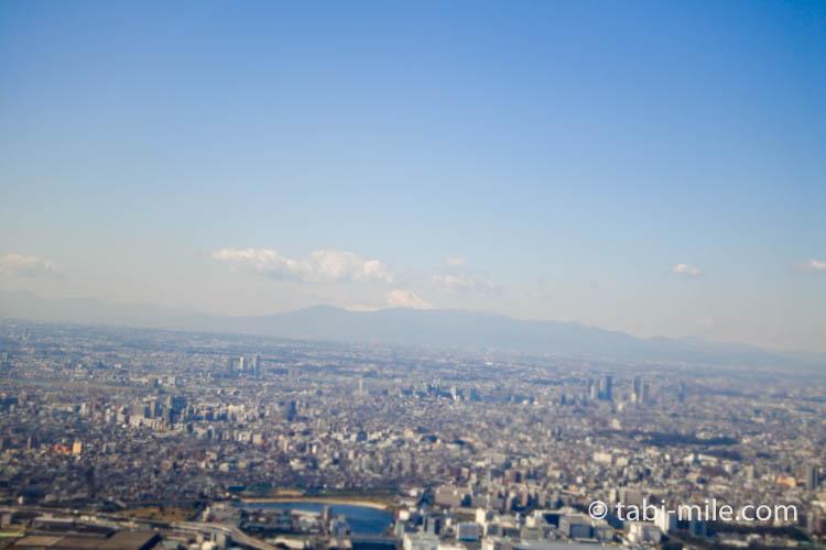 JAL国内線からの富士山