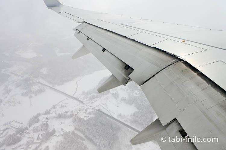JAL国内線青森空港到着間際の景色2