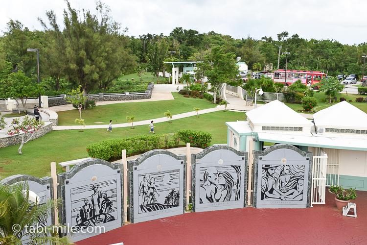 グアム 恋人岬 庭の景色