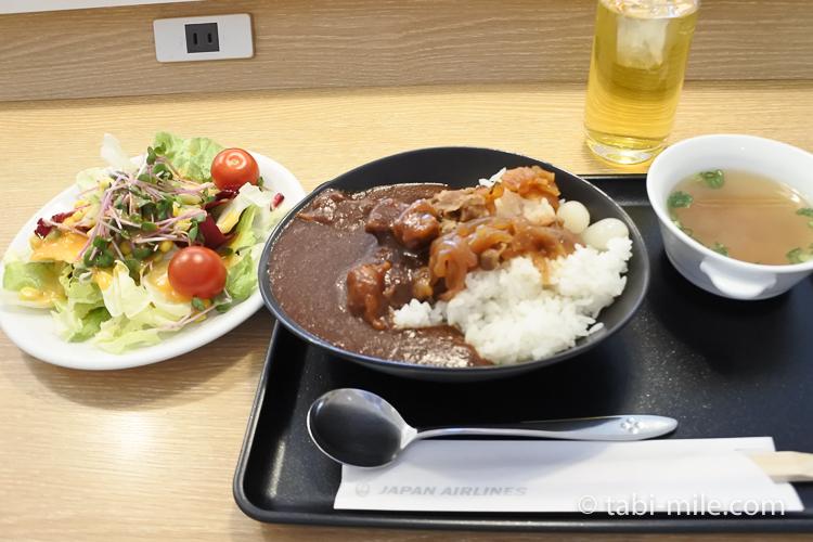 JALサクララウンジ 特製ビーフカレー 牛丼