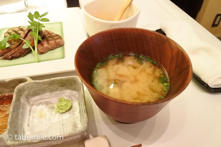 銀座栃木屋本店 味噌汁