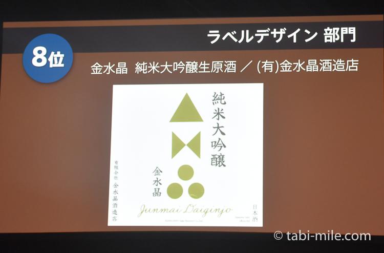 SAKE COMPETITION 2017 ラベルデザイン部門 8位