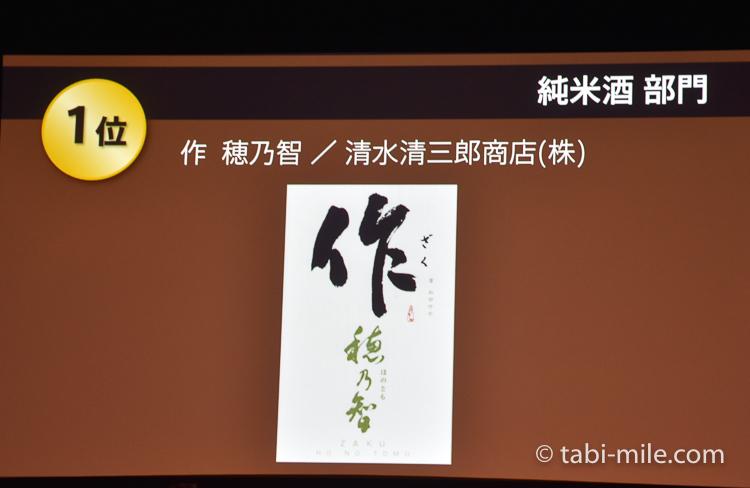 SAKE COMPETITION 2017 純米酒 1位