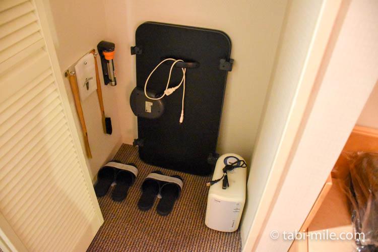 青森旅行 ホテルJALシティ青森 部屋 アイロン スリッパ 除湿機