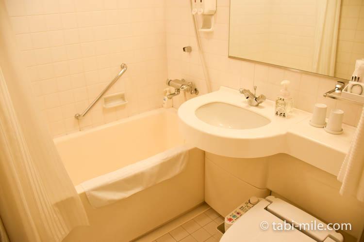 青森旅行 ホテルJALシティ青森 部屋 トイレ 洗面所 バス