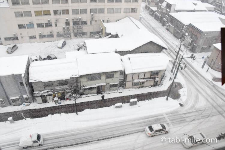 青森旅行 ホテルJALシティ青森 部屋 窓からの風景