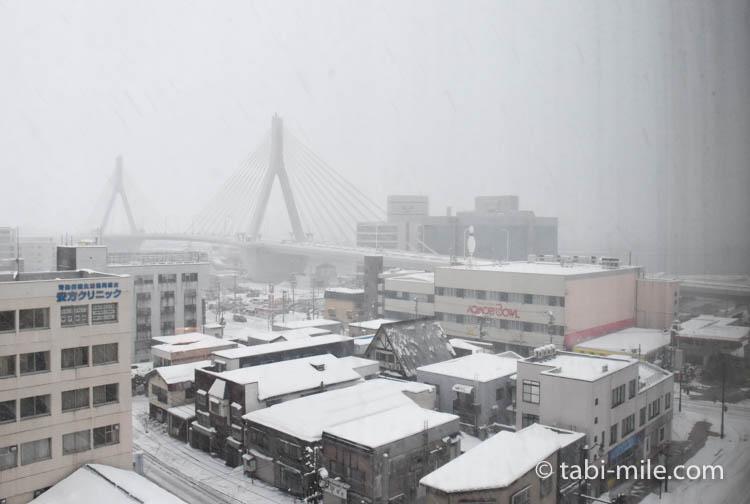 青森旅行 ホテルJALシティ青森 部屋 窓からの風景2