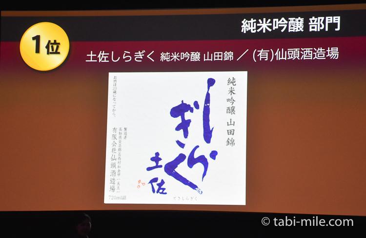 SAKE COMPETITION 2017 純米吟醸 1位