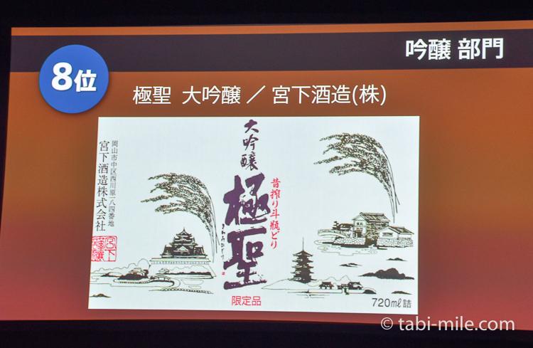 SAKE COMPETITION 2017 純米大吟醸 8位