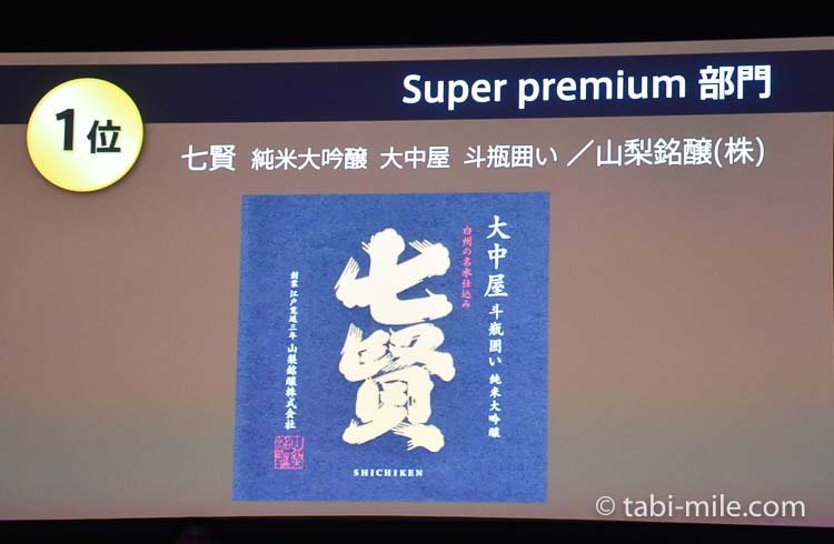 SAKE COMPETITION 2017 SuperPremium 1位