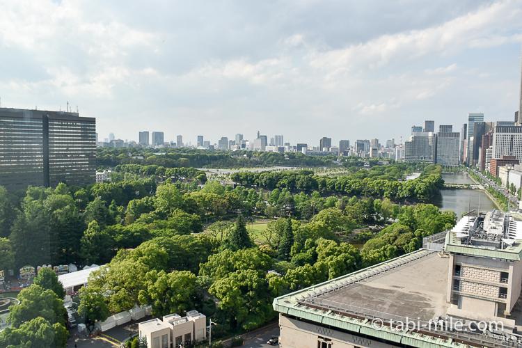 帝国ホテル アフタヌーンティー 窓からの景色