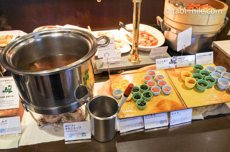 ホテルJALシティ青森 ラ・セーラ 朝食 きのこ汁 小鉢