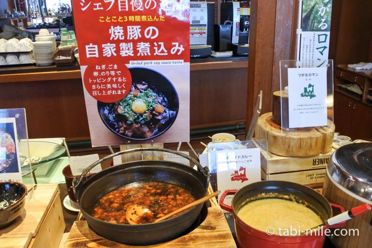 ホテルJALシティ青森 ラ・セーラ 朝食 焼豚 煮込み