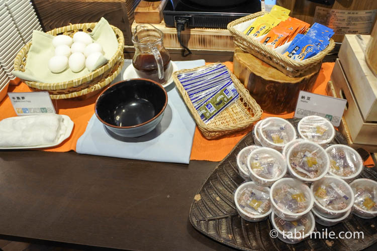 ホテルJALシティ青森 ラ・セーラ 朝食 納豆 ゆで卵