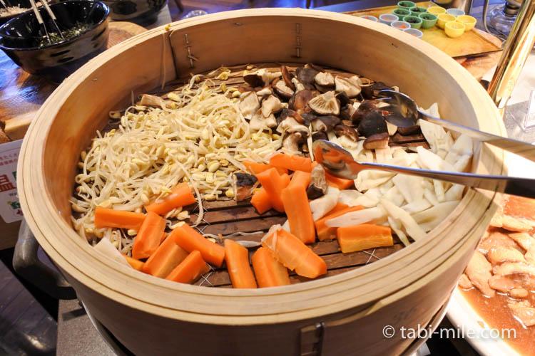 ホテルJALシティ青森 ラ・セーラ 朝食 蒸し野菜