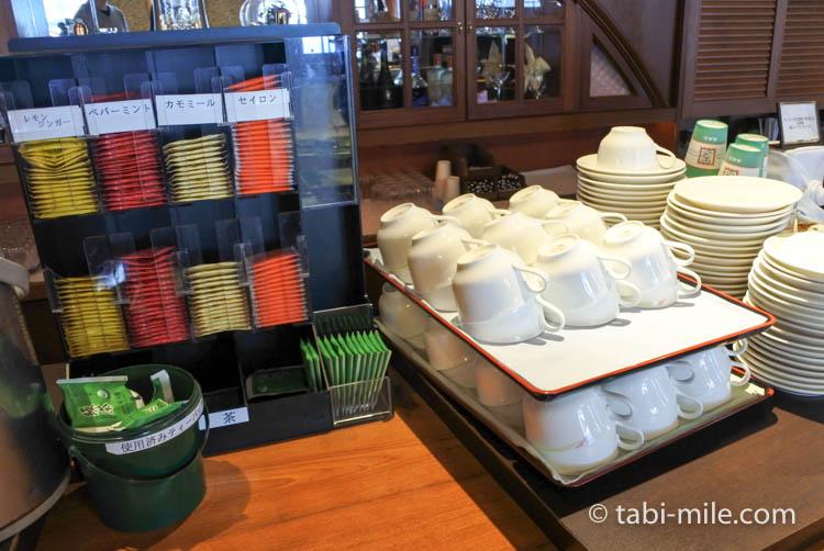 ホテルJALシティ青森 ラ・セーラ 朝食 紅茶 緑茶 ハーブティー