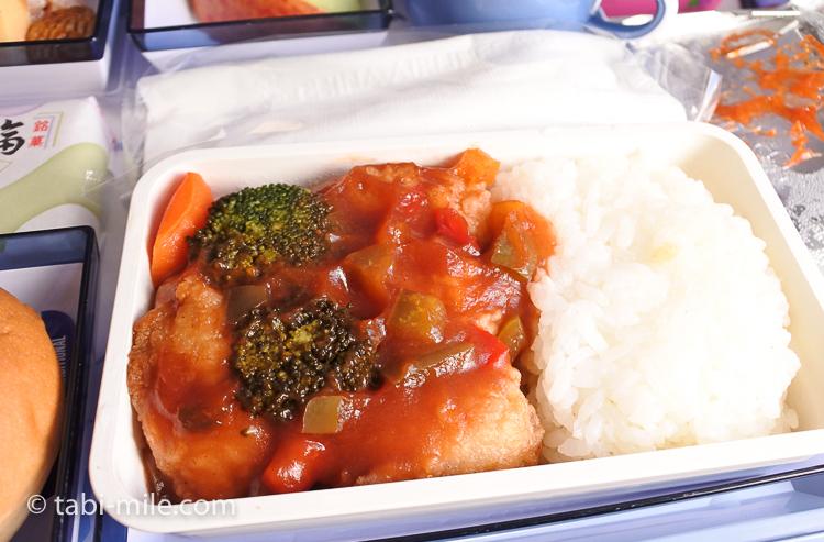 チャイナエアライン エコノミークラス 機内食 行き 魚2