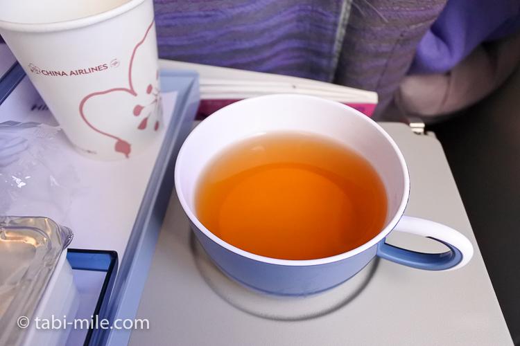 チャイナエアライン エコノミークラス 機内食 ウーロン茶