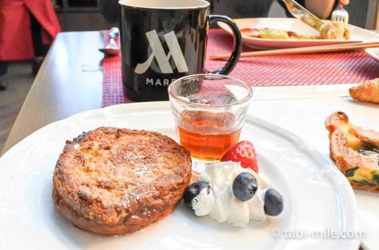 マリオット東京 朝食 フレンチトースト