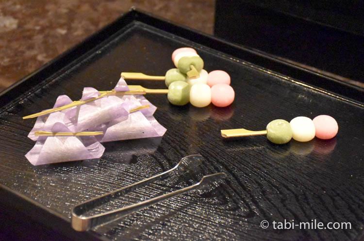 マリオット東京 エグゼクティブラウンジ アフタヌーンティー和菓子