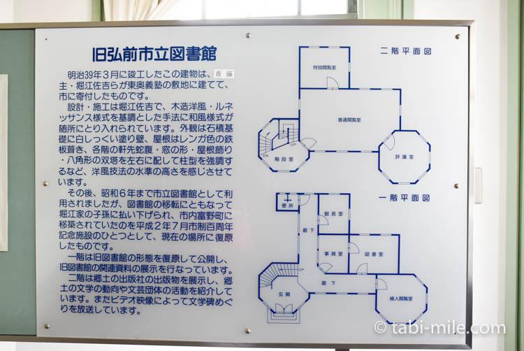 青森旅行 弘前 旧弘前市立図書館 案内図