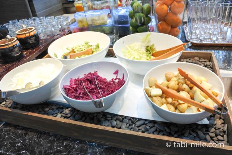 マリオット東京 朝食 サラダ