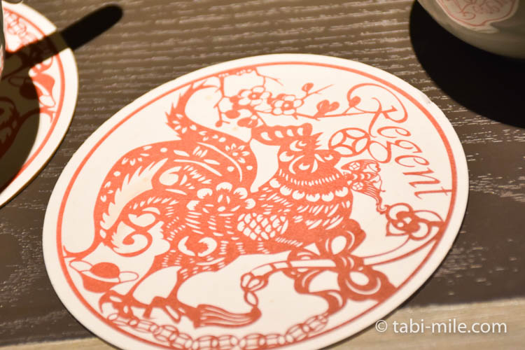 台湾旅行 リージェント台北 部屋マグカップコースター